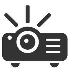 Projector flat icon vector