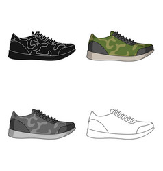 rag camouflage sneakers for everyday wear vector image