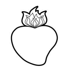 Sacred hearth of jesus icon vector