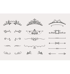 Set of headers and border elements vector image