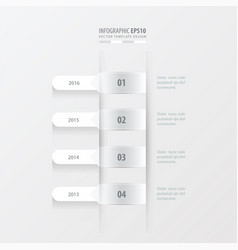timeline template white color vector image vector image