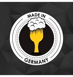 Germany oktoberfest beer emblem image vector