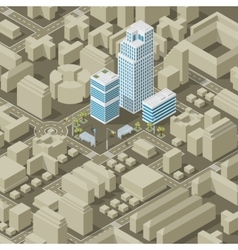 City plan isometric vector