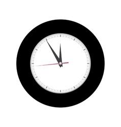 Alarm clock on white background vector image