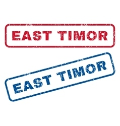 East timor rubber stamps vector