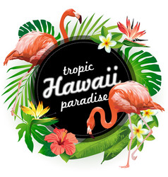 Hawaii tropic paradise vector