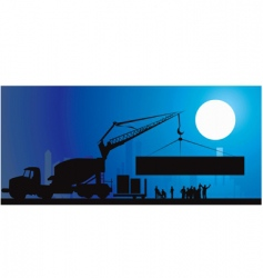 Construction site vector