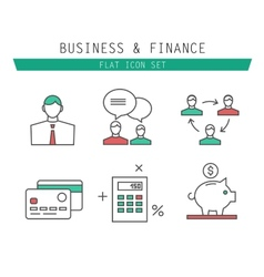 collection of simple thin business and vector image