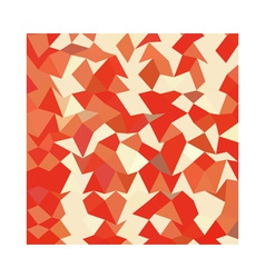 Coral red abstract low polygon background vector