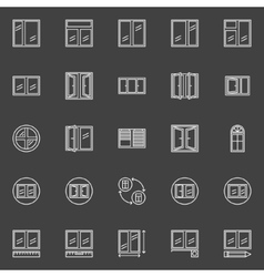 Window installation icons vector