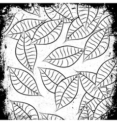 Vintage background with leaves vector