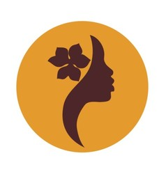 African american woman face profile- beauty sign vector image vector image