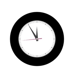 Alarm clock on white background vector image