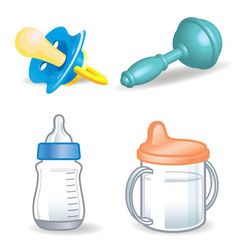 Baby things vector