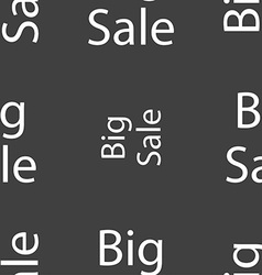 Big sale sign icon special offer symbol seamless vector