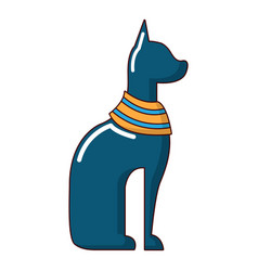 cat egypt icon cartoon style vector image
