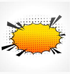 comic speed bubble vector image