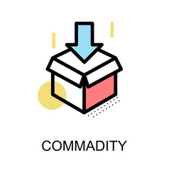 commadity icon and open box symbol on white vector image vector image