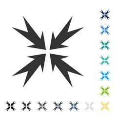 Compression arrows icon vector