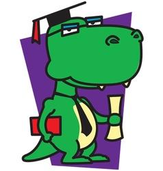 Dinosaur Graduation vector image
