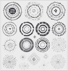 Doodle artistic wreathframeburstBlack vector image