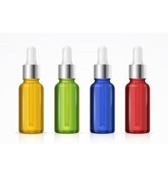 Dropper Bottle Set Colorful vector image vector image