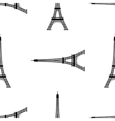 Eiffel tower paris france seamless background vector