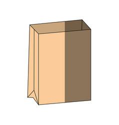 Empty paper bag vector