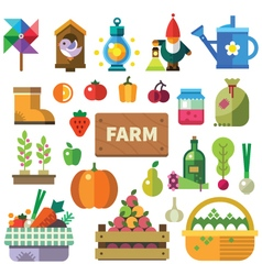 Farm in the village vector image