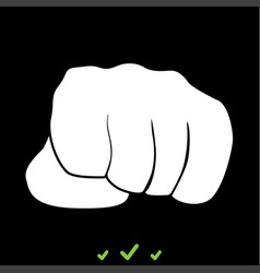 fist it is white icon vector image vector image