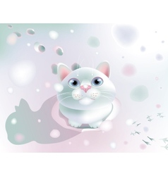 Fluffy on snow vector