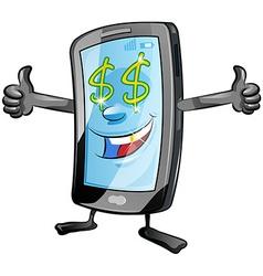 fun mobile cartoon vector image