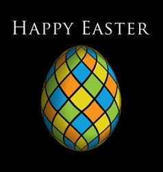 Greeting card - colored easter egg with text vector