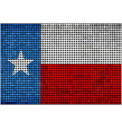 Grunge mosaic flag of texas vector