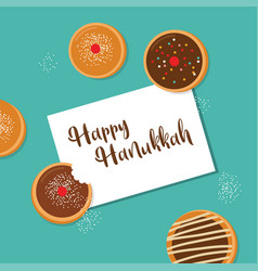 Happy hanukkah- traditional jewish holiday vector