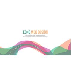 Header website abstract beauty design vector