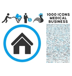Home Icon with 1000 Medical Business Pictograms vector image vector image