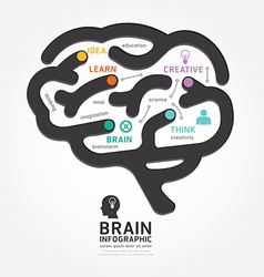infographics brain design diagram line style vector image vector image