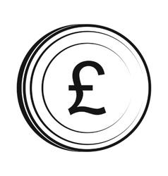 Money pound icon simple style vector