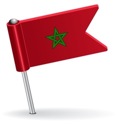 Moroccan pin icon flag vector image