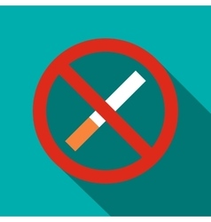 No smoking sign icon flat style vector image