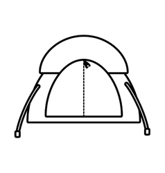 Outline dome tent hiking forest camping vector