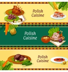 Polish cuisine banners for restaurant menu design vector