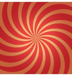 Red spiral pop art background vector image