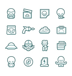 Science fiction icons vector