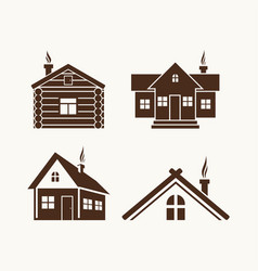 set of houses for the logo vector image vector image