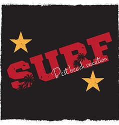 Surf background vector image vector image