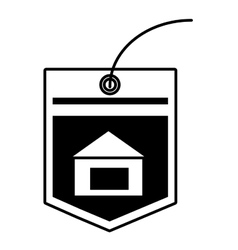 Tag price bulilding property outline vector