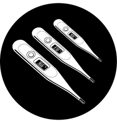 Thermometers icon vector