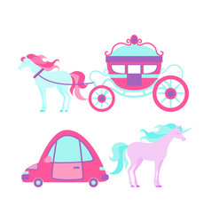 transport for the little princess vector image